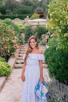 Gal Meets Glam L'Escale de Ciel, France - Club Monaco dress c/o, Hermes scarf & Carolina Santo Domingo bag