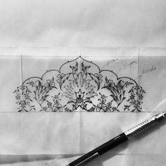 ✏️#drawing #sketch #design #artwork #mywork #blackandwhite #tumblr #istanbul #turkey Drawing Sketches, Pencil Drawings, Art Drawings, Drawing Ideas, Turkish Design, Turkish Art, Border Embroidery Designs, Islamic Paintings, Persian Motifs