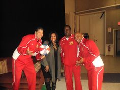 MO with the Globetrotters backstage..TMG interview