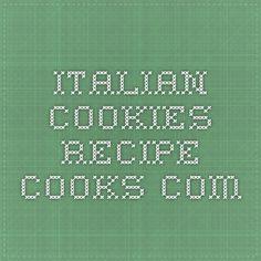 Italian Cookies - Recipe - Cooks.com