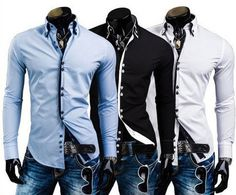 Double Collar Stylish Dress Shirts – eDealRetail