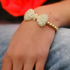 Every girly-girl needs a little bling in their life! SHOP our Large Bow Bling Bracelet, $17.50