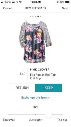 855f4c9942ab3 Pink Clover Eira Raglan Roll Tab Knit Top Stitch Fix