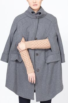 Carven Rounded Wool Coat