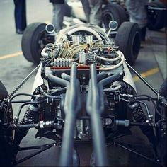 -- ——— Mechanics prepare Richie Ginther's Honda ———– 1965 Monaco GP Honda, Classic Race Cars, Classy Cars, Race Engines, Vintage Race Car, Car Engine, Car And Driver, Go Kart, Formula One
