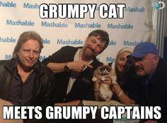 Deadliest Catch Captains with Grumpy Cat