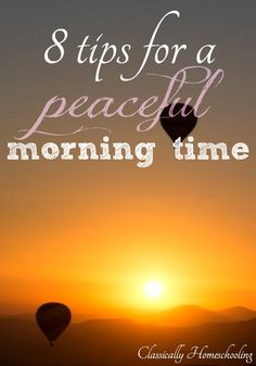 Do you ever find morning time to be chaotic with kids bouncing off the walls? It's normal. Kids are energetic and ready to play in the morning. You can have a peaceful morning time using these 7 tips!