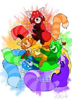 red panda rainbow!