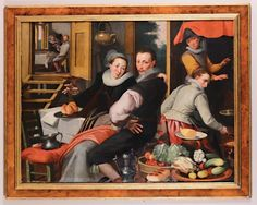 Pieter Aertesen (Amsterdam 1508-1575) circle of, Interior of a kitchen with figures - [...], Furnishings and Paintings from Palazzo Corner Spinelli in Venice (Genova) à Cambi Casa d'Aste | Auction.fr