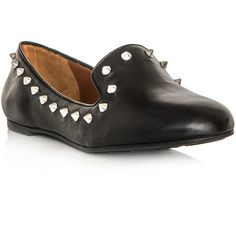 Marc by Marc Jacobs Studded loafer shoes ($328) ❤ liked on Polyvore