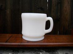 Vintage Hazel Atlas Shaving Mug White Milk Glass by EmmasHeritage