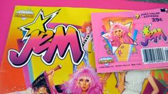 I had this! The decoder was so cool! Jem Collector's Sticker Album with Magic Decoder...remember when sticker books had decoders (hell, remember sticker books)? (unicornkids on etsy)