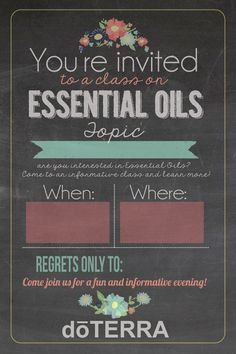 4x6 doTERRA class invitation INSTANT DOWNLOAD  by MabelStreet, $6.00