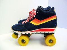 Vintage Roller Skates size 10 Free Formers by PlumlineVintage