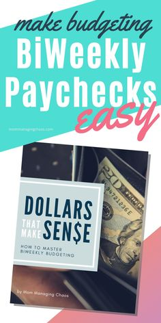 Wanna know how to create a monthly budget on a biweekly paycheck? Then check out this awesome printable workbook to organize your expenses and income and set up a system to start managing your money the easy way!   Biweekly Budget | Monthly Budget | Budgeting Money #mommanagingchaos #budget #budgeting