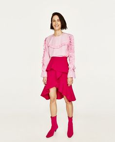 Image 2 of FRILLED TOP from Zara