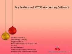 User Basic Software: KEY FEATURES OF MYOB ACCOUNTING SOFTWARE