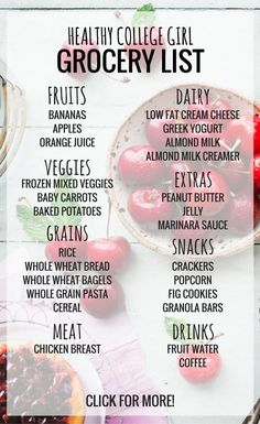 Eating healthy on a college budget can be hard! This healthy college grocery list is perfect for dorms and apartments!