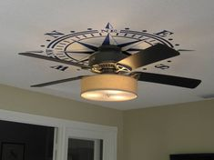 Ceiling Medallion Compass Rose DECAL Nautical Beach Decor Removable Graphic Art…