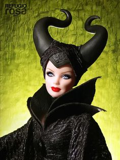 Beautiful Malefica (Maleficent) OOAK Barbie | My Dolls :: A Blog ...