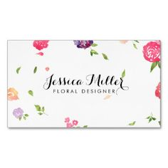 Vintage Watercolor Florals Craft Designer II Double-Sided Standard Business Cards (Pack Of 100)