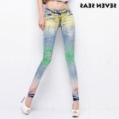 27.41$  Buy here - https://alitems.com/g/1e8d114494b01f4c715516525dc3e8/?i=5&ulp=https%3A%2F%2Fwww.aliexpress.com%2Fitem%2FNew-Fashion-Chic-Beaded-Painted-Ladies-Jeans-Woman-Skinny-Jeans-Femme-Stretch-Jean-slim-plus-size%2F32556331555.html - New Fashion Chic Beaded Painted Ladies Jeans Woman Skinny Jeans Femme Stretch Jean slim plus size Denim pants 27.41$