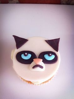 Smile, grumpy cat, because it's Friday! #cupcake #sweet #Toronto