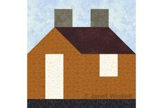 Easy House Quilt Block Pattern