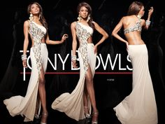 Tony Bowls Paris»Style No. 113735 » Tony Bowls  I don't think my core could get good enough to wear this dress but yeahhhh I'd love to