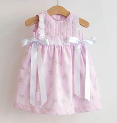 Vestido Com Bordado  Rosa - Coobie