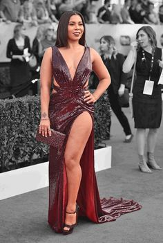 The Sexiest Dress at the SAG Awards Was Made by Malan Breton, the Internet's Fave Designer Sexy Dresses, Dress Outfits, Fashion Outfits, Formal Dresses, Black Celebrities, Celebs, Elegant Outfit, White Girls, Curvy Fashion