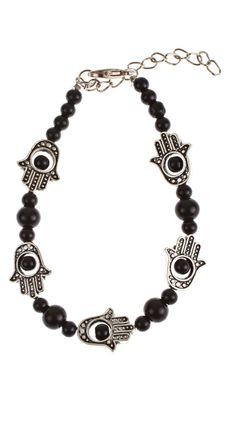 Beaded Hamsa Bracelet.  We have charms from Israel.