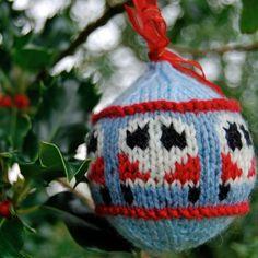 "Ravelry: Festive ""Dub Ball"" Campervan Bauble PDF Knitting Pattern pattern by Tracy Harrison (SnuginaDub) Christmas Knitting Patterns, Knitting Patterns Free, Free Knitting, Knit Patterns, Free Pattern, Knitting Projects, Crochet Projects, Knit Christmas Ornaments, Christmas Balls"