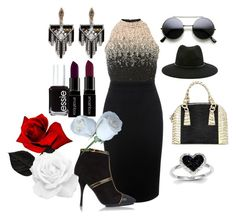 """""""Untitled #441"""" by moniquedawson09123 ❤ liked on Polyvore featuring Lace & Beads, Alexander McQueen, Nancy Gonzalez, Emilio Pucci, Forever 21, Lulu Frost, Kevin Jewelers, Smashbox, Essie and women's clothing"""