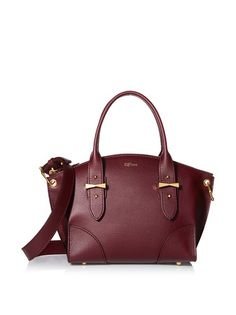 www.myhabit.com : ALEXANDER McQUEEN Small Legend, Bordeaux Chic, embossed leather design with two interior  slip pockets and a fixed chain strap