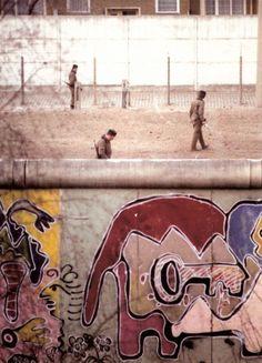 the Berlin wall's first street artist