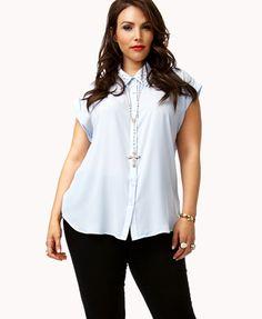 Pearlescent Beaded Shirt | FOREVER 21 - 2027293175