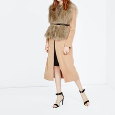 Afficher l'image d'origine Maje, Second Skin, Duster Coat, Cozy, Fur, Collection, Pants, Jackets, Dresses