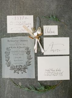 Rustic Italian-Inspired Calligraphy Wedding Stationery