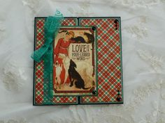 Love Is A Four Legged Word Gate Fold Card, Graphic 45 Raining Cats And Dogs, Blank