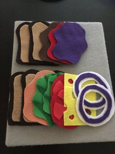 Felt sandwiches by SchoenTell on Etsy