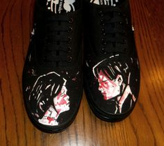 My Chemical Romance Shoes  Hand Painted by HeyMoonShoes on Etsy, $60.00
