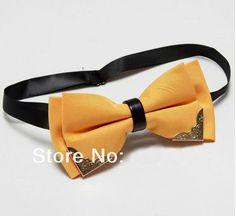 Men's Butterfly Bow Tie Butterflies Cravat Orange