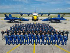 "Blue Angles Squadron. C-130 Hercules ""Fat Albert"" in background"