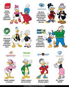 Disneyhahmot poliitiikassa - hauskat kuvat - Naurunappula