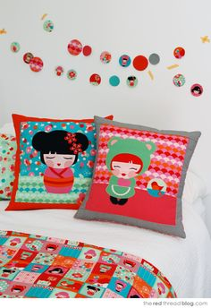 the red thread :: create, inspire, share | Hello Tokyo :: the red thread new fabric range | http://www.theredthreadblog.com