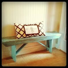 this is the color bench I need for my entryway!