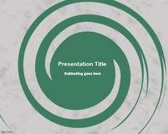 If you need a simple but useful spiral design for PowerPoint presentations then this freeSpiral PowerPoint Template can be useful