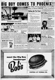 The oldest remaining Bob's Big Boy location W Riverside Drive, Burbank, CA Declared a historical landmark by the state of California in Big Boy Restaurants, Boys Home, Riverside Drive, Big Boys, Bobs, Phoenix, Old Things, Vintage, Vintage Comics
