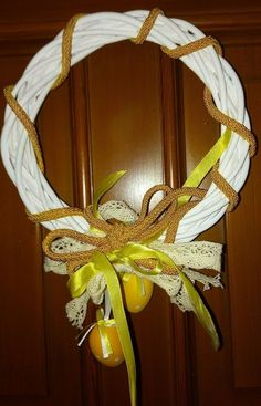 Ghirlanda Pasquale artigianalmente fatte a mano pezzo unico Cod. 1205 Grapevine Wreath, Grape Vines, Wreaths, Ebay, Home Decor, Bricolage, Decoration Home, Door Wreaths, Vineyard Vines